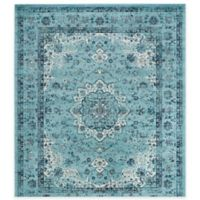 Safavieh Evoke Collection Mirza 6-Foot 7-Inch Square Area Rug in Light Blue