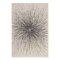 Safavieh Evoke Collection Burst 5-Foot 1-Inch x 7-Foot 6-Inch Area Rug in Black/Ivory