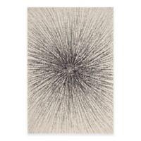 Safavieh Evoke Collection Burst 6-Foot 7-Inch x 9-Foot Area Rug in Black/Ivory