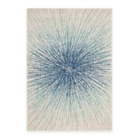 Safavieh Evoke Collection Burst 9-Foot x 12-Foot Area Rug in Royal/Ivory