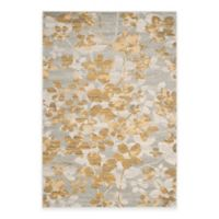 Safavieh Evoke Collection Flora 6-Foot 7-Inch x 9-Foot Area Rug in Grey/Gold