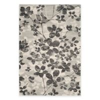 Safavieh Evoke Collection Flora 6-Foot 7-Inch x 9-Foot Area Rug in Grey/Black
