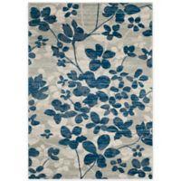 Safavieh Evoke Collection Flora 9-Foot x 12-Foot Area Rug in Grey/Light Blue