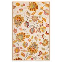 Safavieh Four Seasons Paisley Floral 5-Foot x 8-Foot Indoor/Outdoor Area Rug in Ivory/Yellow