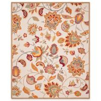 Safavieh Four Seasons Paisley Floral 8-Foot x 10-Foot Indoor/Outdoor Area Rug in Ivory/Yellow
