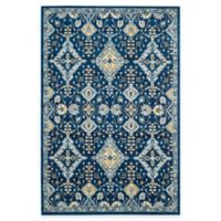 Safavieh Evoke Collection Diamonds 5-Foot 1-Inch x 7-Foot 6-Inch Area Rug in Royal/Ivory