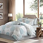 Madison Park Essentials Knowles 9-Piece Queen Comforter Set in Aqua