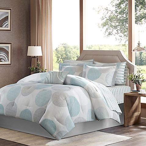 Madison Park Essentials Knowles 9 Piece Comforter Set In