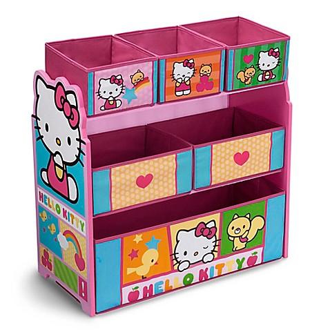 hello kitty toy organizer with storage bins in pink bed bath beyond. Black Bedroom Furniture Sets. Home Design Ideas