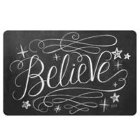 The Softer Side by Weather Guard™ 18-Inch x 27-Inch Believe Kitchen Mat