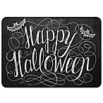 The Softer Side by Weather Guard™ 18-Inch x 27-Inch Happy Halloween Kitchen Mat in Black/White