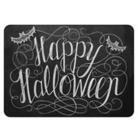 The Softer Side by Weather Guard™ 23-Inch x 36-Inch Happy Halloween Kitchen Mat in Black/White