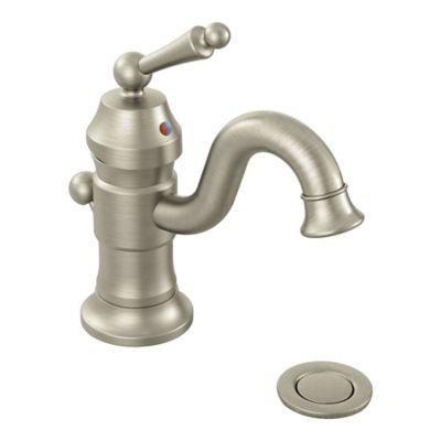 Moen® Waterhill 1 Handle High Arc Single Hole Bathroom Faucet In Brushed  Nickel