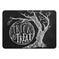 The Softer Side by Weather Guard™ 18-Inch x 27-Inch Trick or Treat Moon Kitchen Mat in Black/White