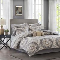 Madison Park Essentials Serenity 9-Piece California King Comforter Set in Taupe