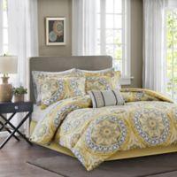 Madison Park Essentials Serenity 9-Piece Queen Comforter Set in Yellow