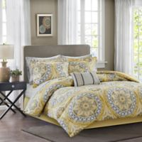 Madison Park Essentials Serenity 9-Piece California King Comforter Set in Yellow