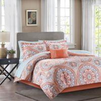 Madison Park Essentials Serenity 9-Piece Full Comforter Set in Coral
