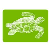 The Softer Side by Weather Guard™ 18-Inch x 27-Inch Turtle Kitchen Mat in Lime/White