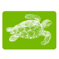 The Softer Side by Weather Guard™ 23-Inch x 36-Inch Turtle Kitchen Mat in Lime/White