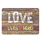 The Softer Side by Weather Guard™ 18-Inch x 27-Inch Rustic Love Sign Kitchen Mat