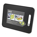 Joseph Joseph® Slice and Sharpen 14.5-Inch x 11-Inch Chopping Board with Knife Sharpener Black