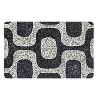 The Softer Side by Weather Guard™ 18-Inch x 27-Inch Modern Mosaic Kitchen Mat in Black/White