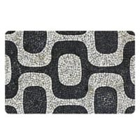 The Softer Side by Weather Guard™ 23-Inch x 36-Inch Modern Mosaic Kitchen Mat in Black/White