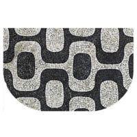 The Softer Side by Weather Guard™ 24-Inch x 40-Inch Modern Mosaic Kitchen Mat in Black/White