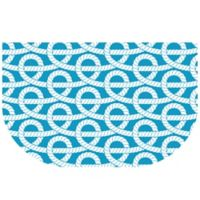 The Softer Side by Weather Guard™ 24-Inch x 40-Inch Nautical Knots Kitchen Mat in Blue/White