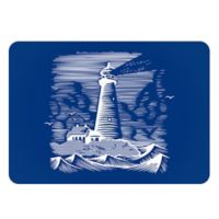 The Softer Side by Weather Guard™ 18-Inch x 27-Inch Lighthouse Kitchen Mat in Navy/White