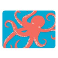 The Softer Side by Weather Guard™ 18-Inch x 27-Inch Nautical Octi on Turquoise Kitchen Mat