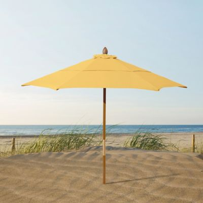beach umbrella. Brilliant Umbrella Resort 7 34Foot Wood Beach Umbrella In Medium Blue With