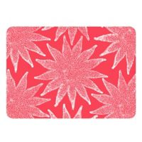 The Softer Side by Weather Guard™ 23-Inch x 36-Inch Nautical White on Coral Kitchen Mat