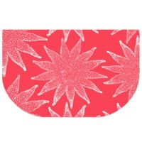 The Softer Side by Weather Guard™ 24-Inch x 40-Inch Nautical White on Coral Kitchen Mat