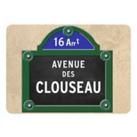 The Softer Side by Weather Guard™ 18-Inch x 27-Inch Paris Street Sign Kitchen Mat