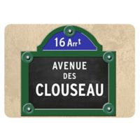 The Softer Side by Weather Guard™ 23-Inch x 36-Inch Paris Street Sign Kitchen Mat
