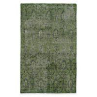 Kaleen Restoration Curio 5-Foot x 8-Foot Area Rug in Green