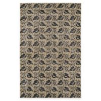 Kaleen Restoration Leaves 2-Foot x 3-Foot Accent Rug in Gold