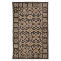 Kaleen Restoration Paulina 4-Foot x 6-Foot Area Rug in Black