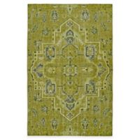 Kaleen Relic Medallion 4-Foot x 6-Foot Area Rug in Green