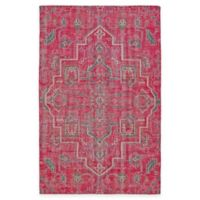 Kaleen Relic Medallion 4-Foot x 6-Foot Area Rug in Pink