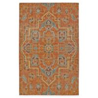 Kaleen Relic Medallion 5-Foot 6-Inch x 8-Foot Area Rug in Paprika