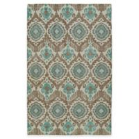 Kaleen Relic Ikat 5-Foot 6-Inch x 8-Foot Area Rug in Light Brown