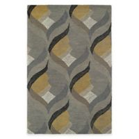 Kaleen Montage Hourglass 5-Foot x 7-Foot 9-Inch Area Rug in Grey