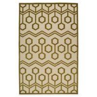 Kaleen Five Seasons Geocomb 3-Foot 10-Inch x 5-Foot 8-Inch Indoor/Outdoor Area Rug in Olive