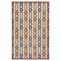 Kaleen Five Seasons Links 2-Foot 1-Inch x 4-Foot Indoor/Outdoor Accent Rug in Red
