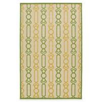 Kaleen Five Seasons Links 2-Foot 1-Inch x 4-Foot Indoor/Outdoor Accent Rug in Gold