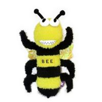 Multipet™ Squeaky Buzz Off Bee with Mylar Wings Dog Toy in Yellow/Black