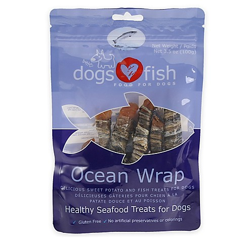 Dogs Love Fish Ocean Wrap 3 5 Oz Seafood Dog Treats In
